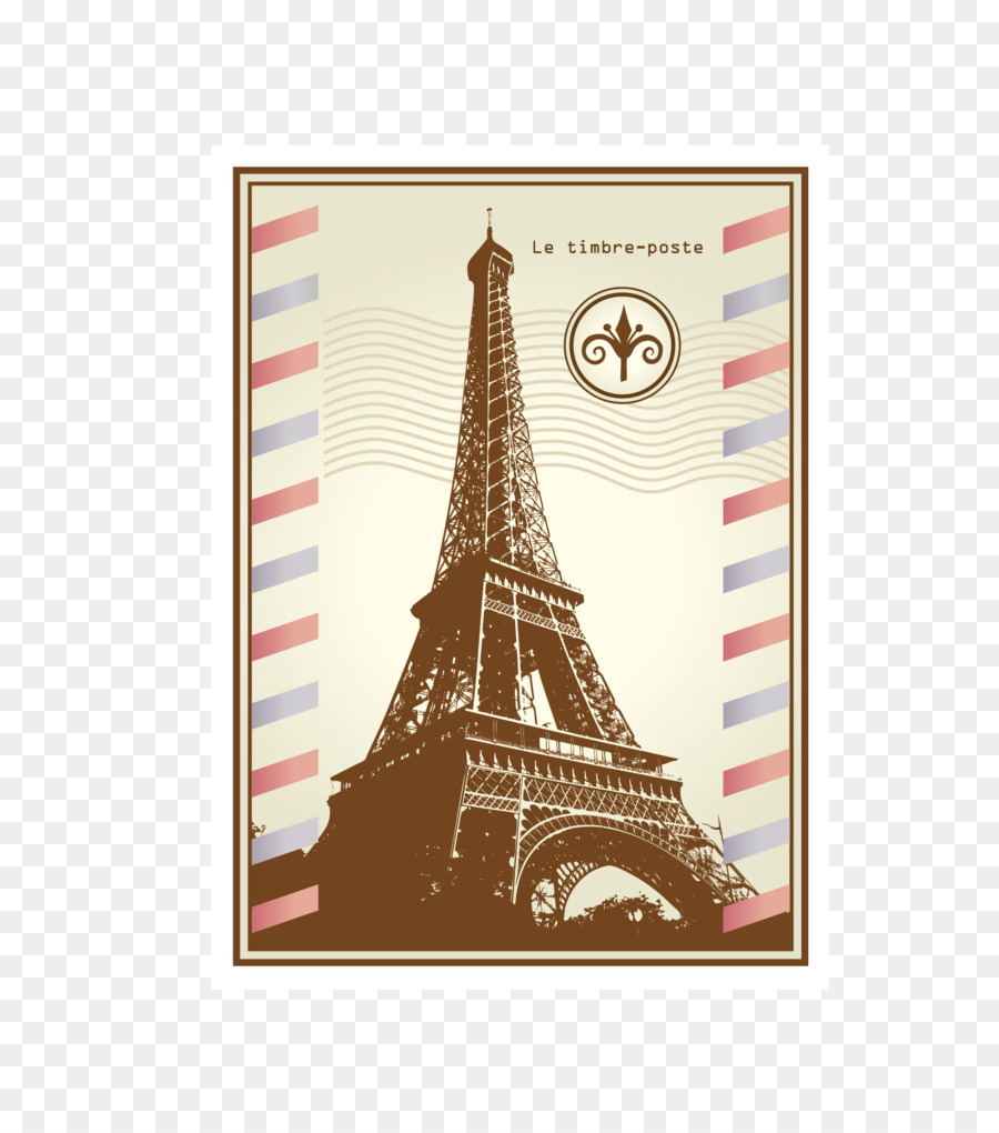 Paris Rubber Stamp Postage Icon