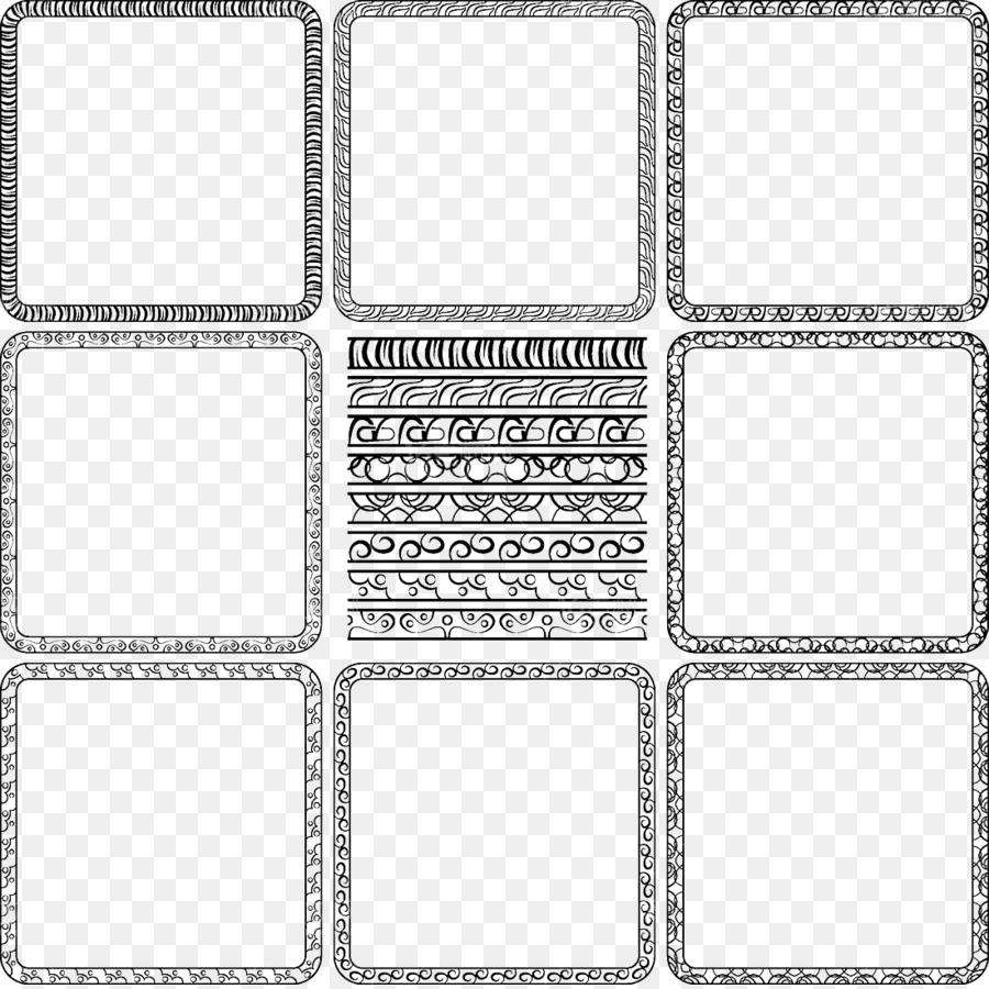 Picture frame Royalty-free Illustration - Border design vector png ...