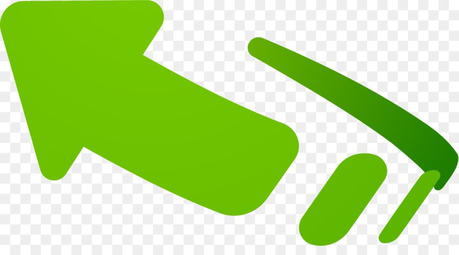 Verde Pintada A Mano Flecha Png Dibujo