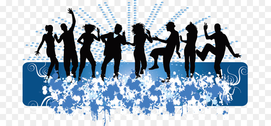 Dynamic Sports Figures Silhouette: Dance Middle School Royalty-free Clip Art