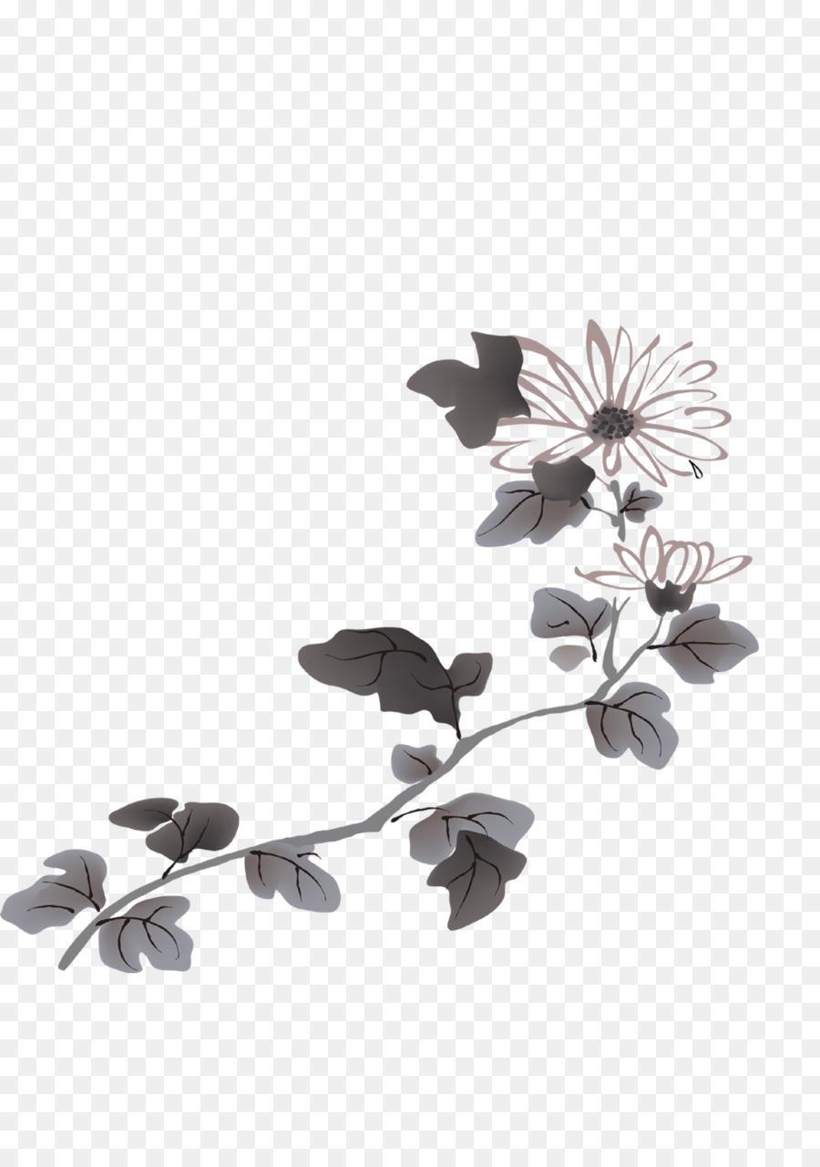 Flower four gentlemen chrysanthemum hand painted ink lotus png flower four gentlemen chrysanthemum hand painted ink lotus mightylinksfo