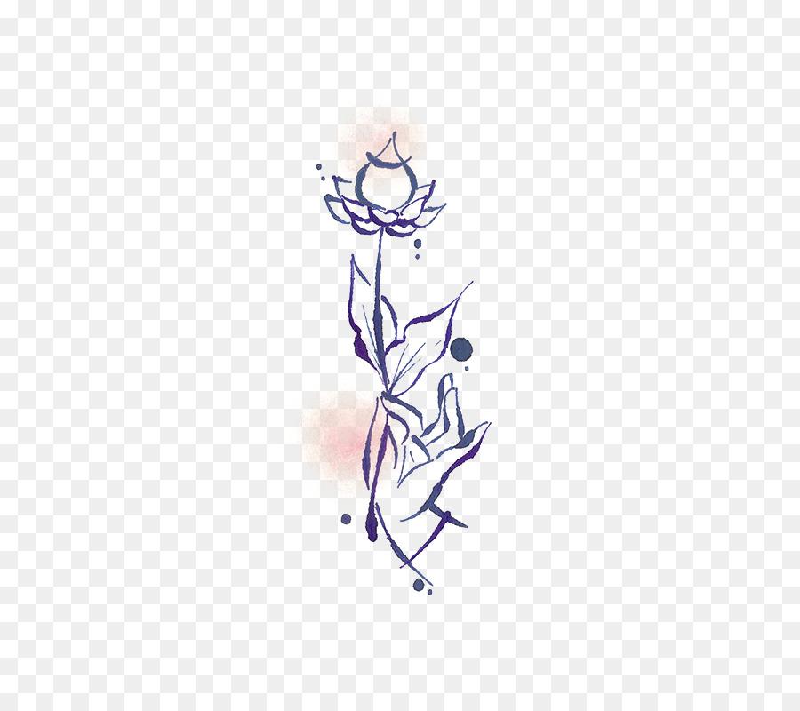 Dessin De Fleurs Illustration Peints A La Main Simple Lotus