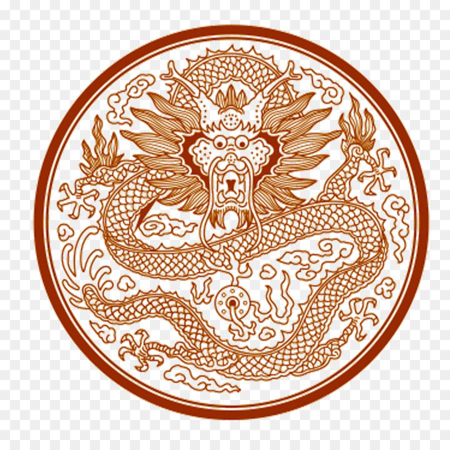 China Dragon libro para Colorear Patrón - El antiguo dragón de la ...