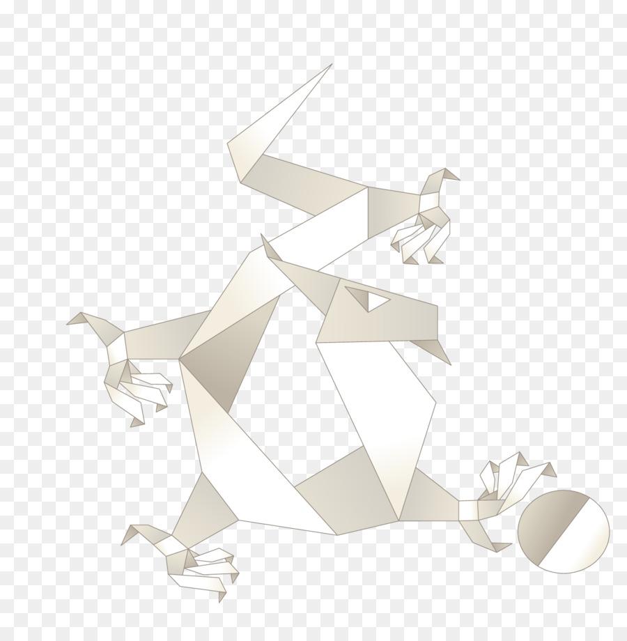 Origami Paper Flat Design Speech Balloon Origami Chinese Dragon
