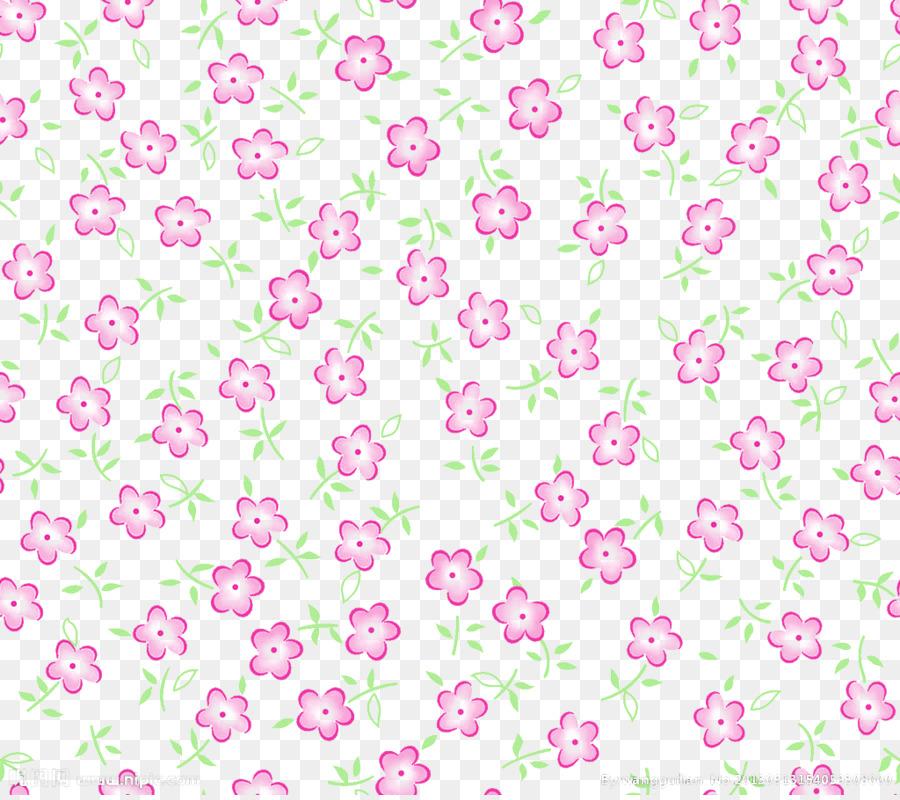 Flores De Color Rosa Púrpura   Libre Para Sacar El Pequeño Patrón Floral