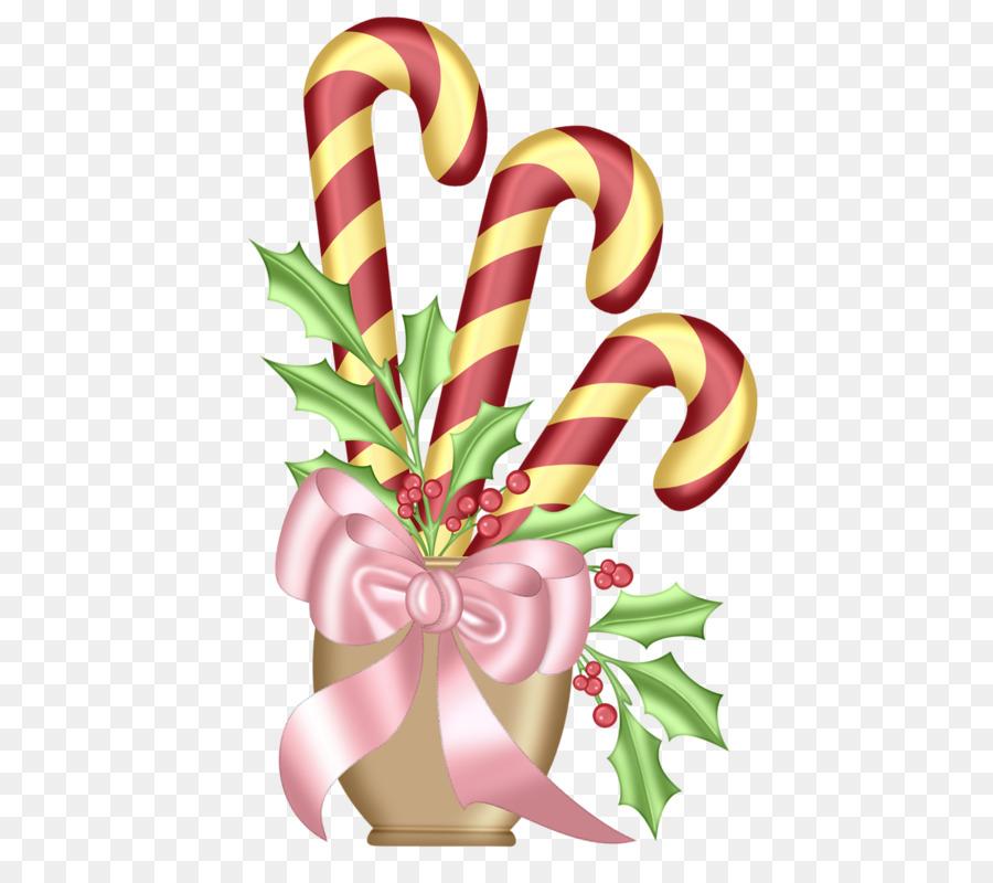 Candy cane Santa Claus Christmas card, Clip-art - Drei gebundenen ...