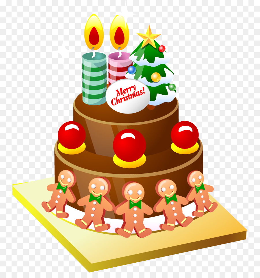 Christmas Cake Birthday Cake Cupcake Clip Art Vector Cartoon Cake