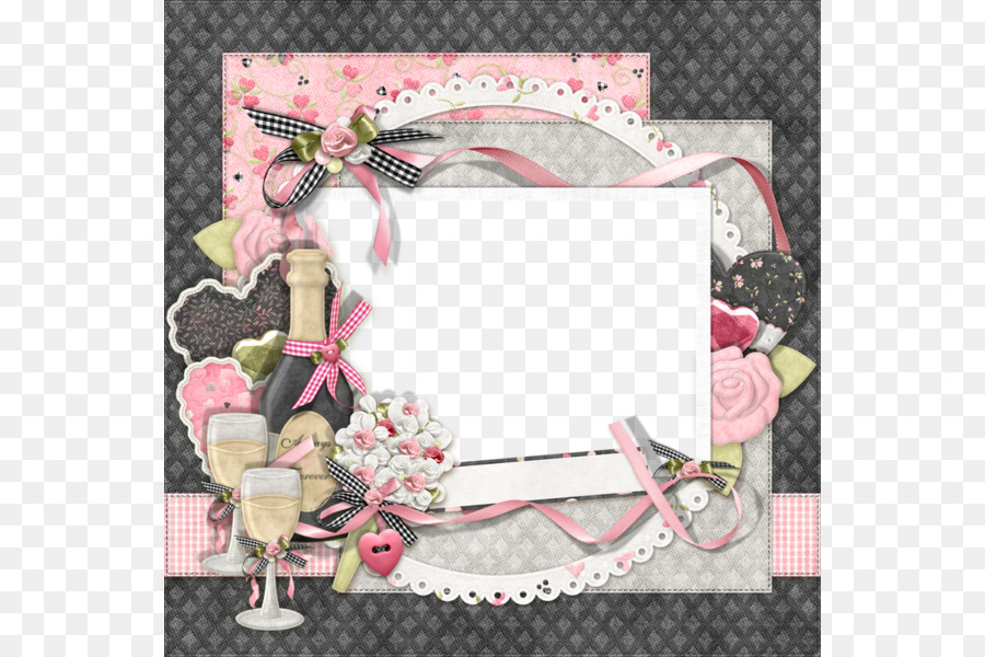 Wedding Collage Picture Frames Clip art - Glass bottle lace border ...