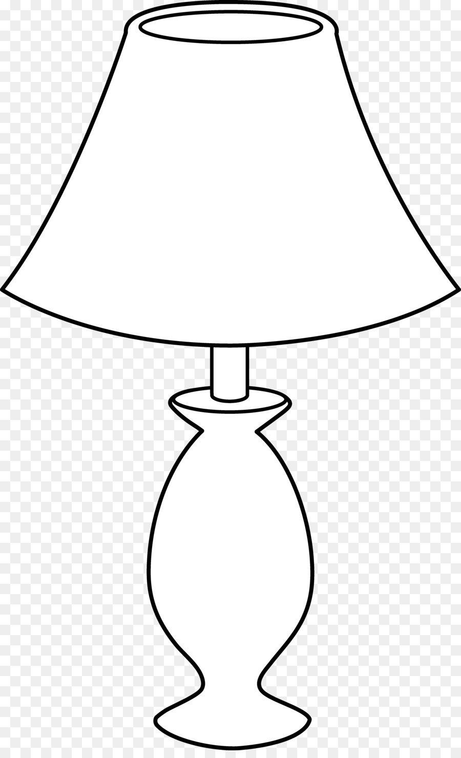 table lamp black and white incandescent light bulb clip art - lamp clip png download