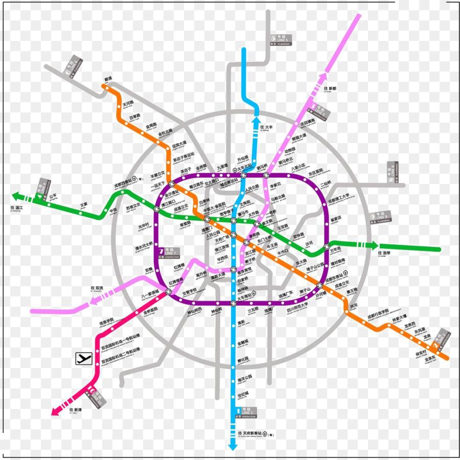 Chengdu Subway Map New Station.Train Cartoon Png Download 1274 1274 Free Transparent Xipu