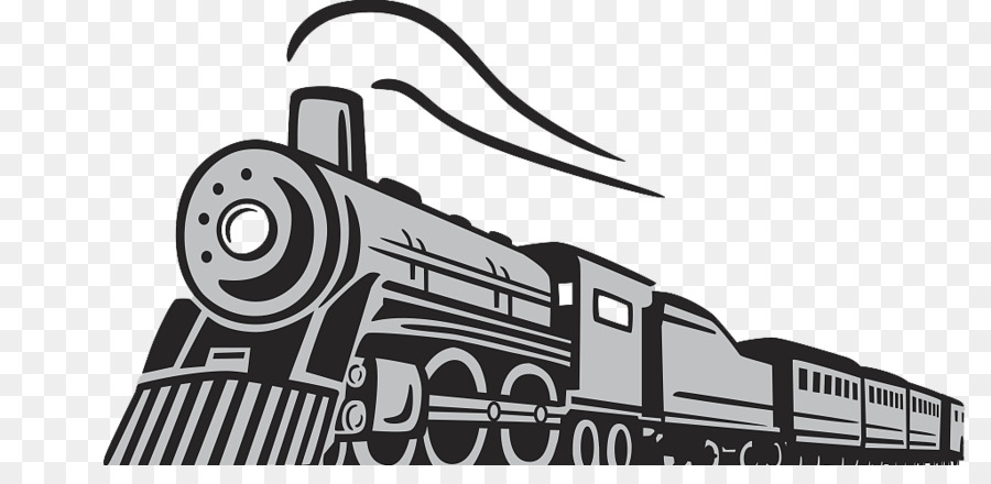 train rail transport steam locomotive cartoon hand drawn