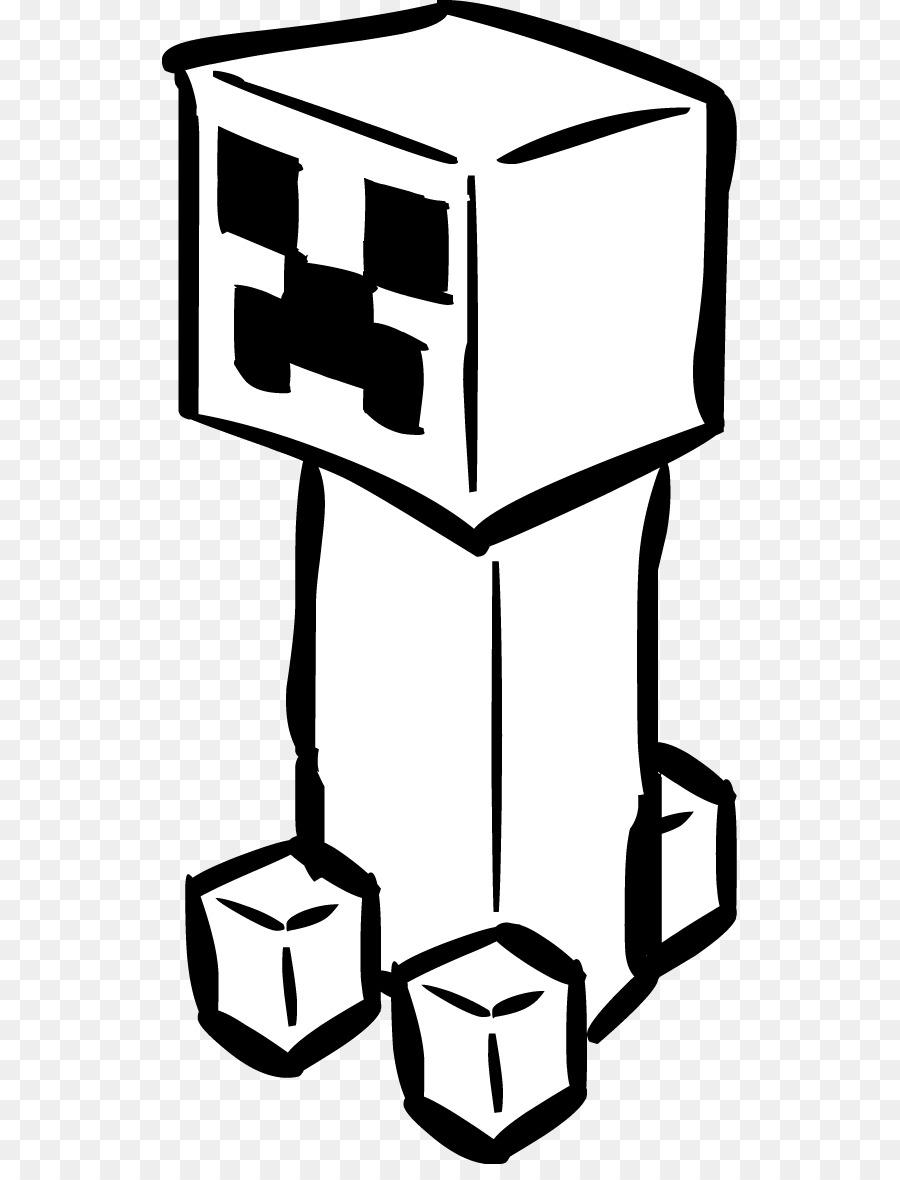 Minecraft Creeper libro para Colorear, Dibujo de Clip art - La ...
