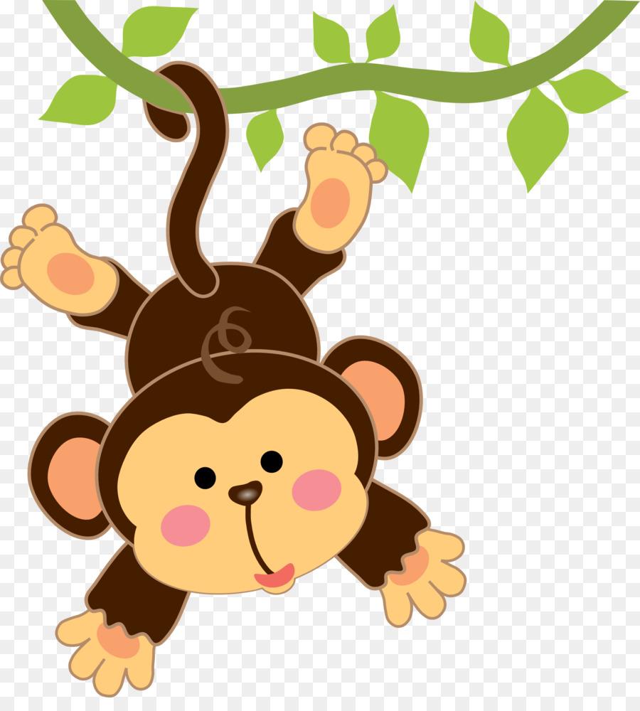 Infant Cartoon Monkey Drawing Clip Art   Safari Monkey Cliparts