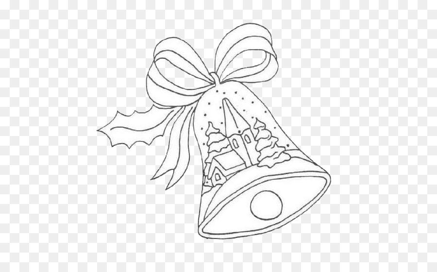 Christmas Drawing Coloring Book Bell Santa Claus