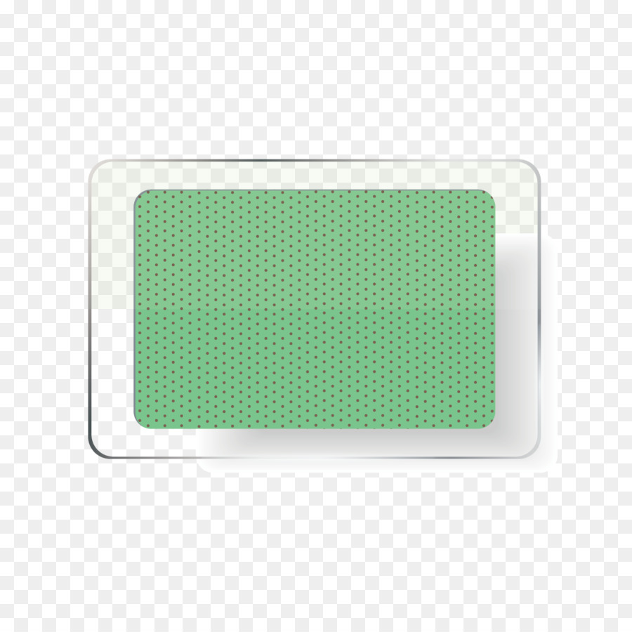 Polka dot Rectángulo - Vidrio verde mapa Formatos De Archivo De ...