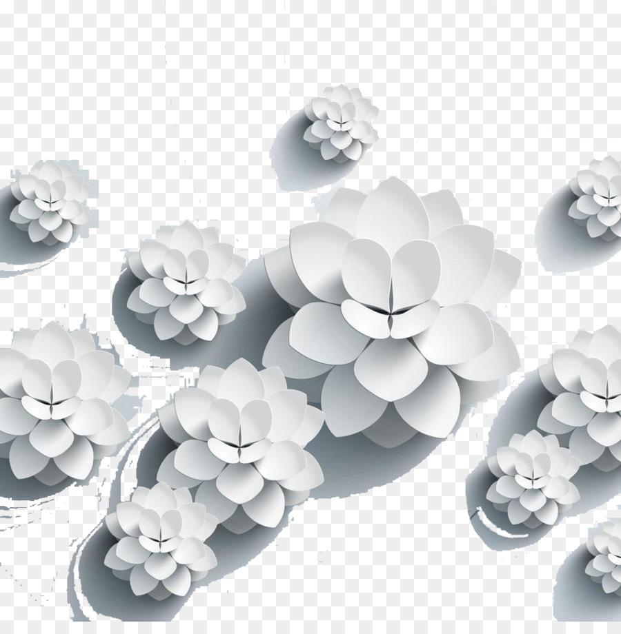 Paper Motif Flower Paper Hand Lotus Png Download 9981000 Free