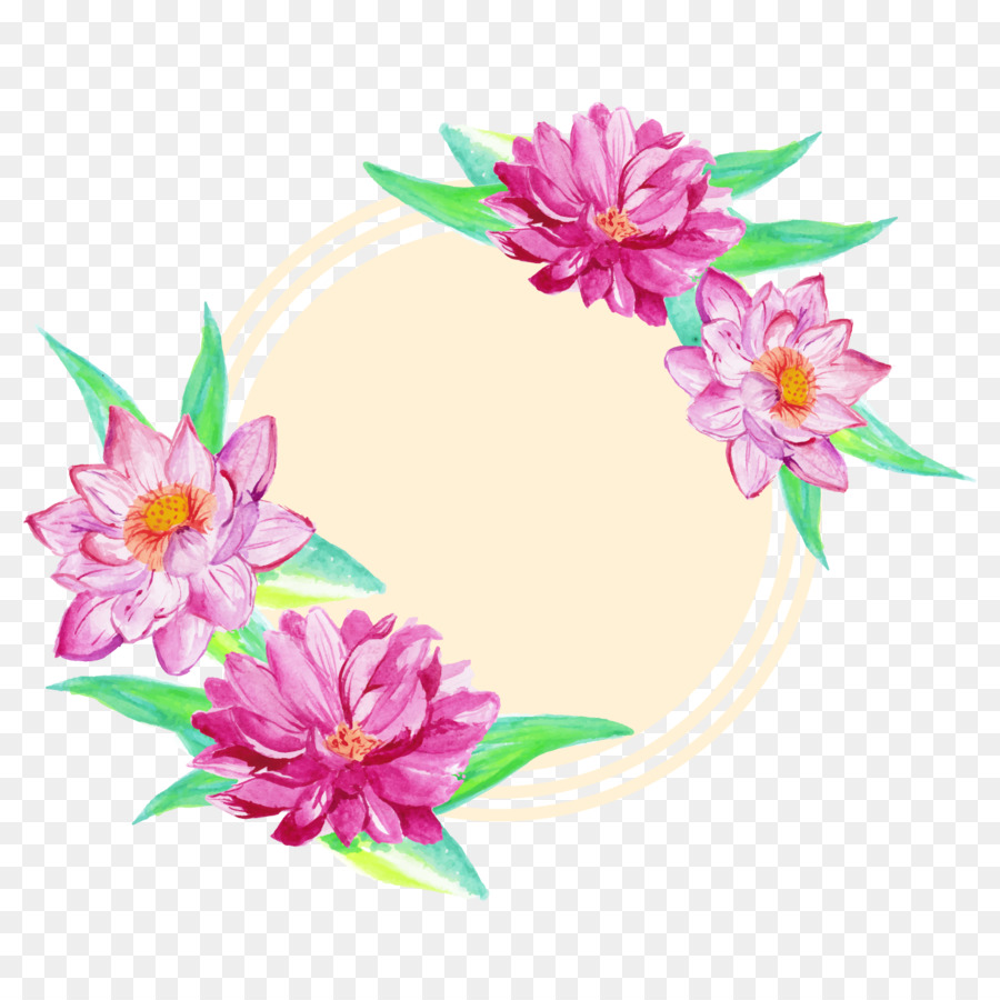 Flower Euclidean Vector Watercolor Painting Drawing Painted Lotus