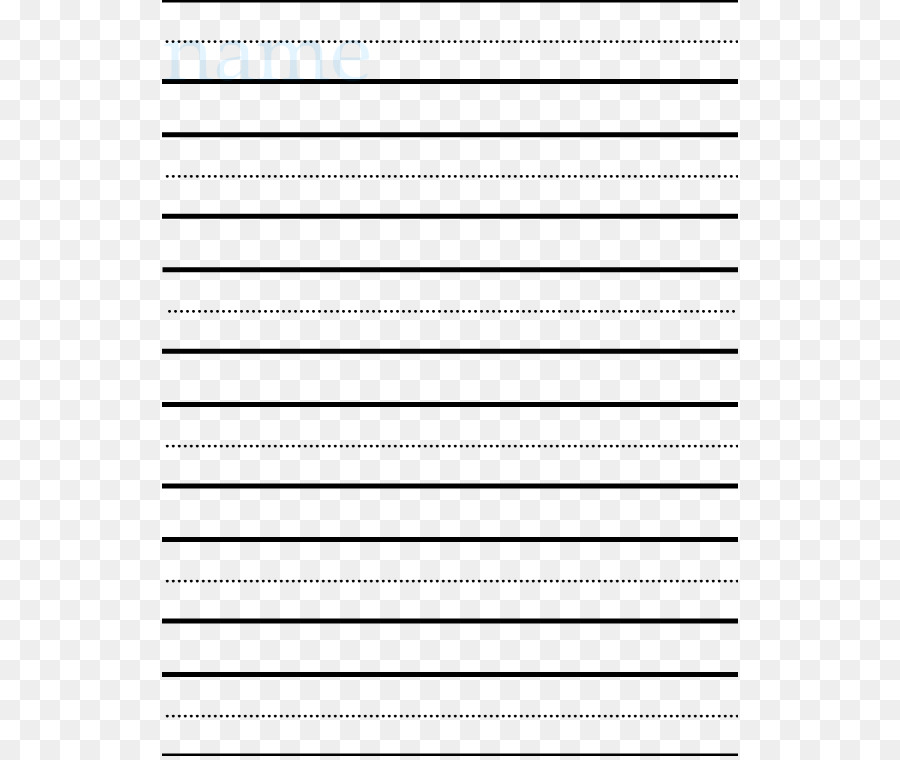 Printing and writing paper Ruled paper Template - Writing Line ...