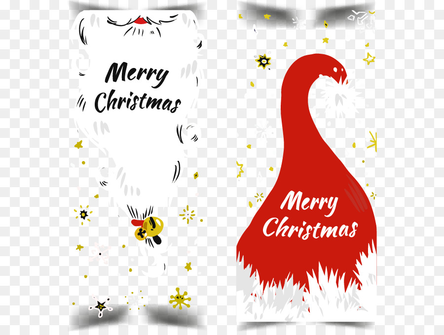 Santa Claus Christmas tree Christmas card - Hand-painted Christmas ...