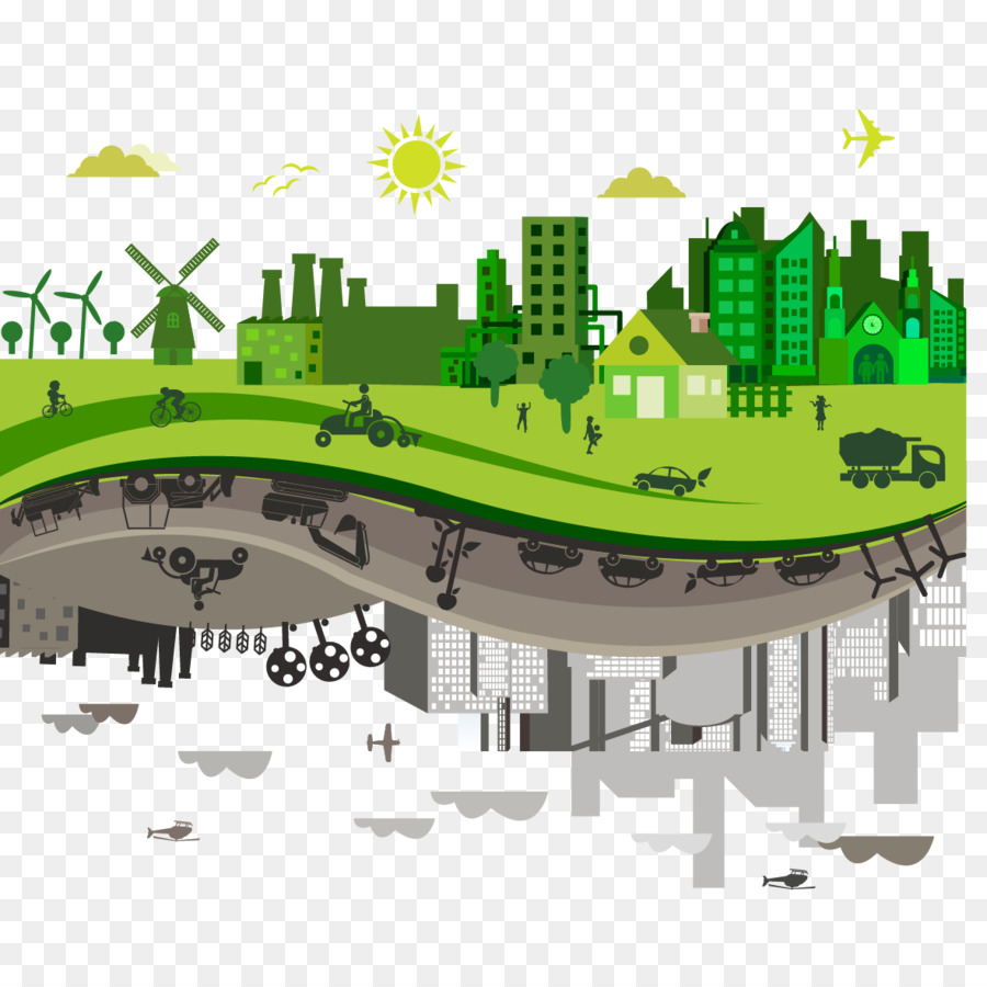 Pollution Sustainable City Eco Cities Vector Creative