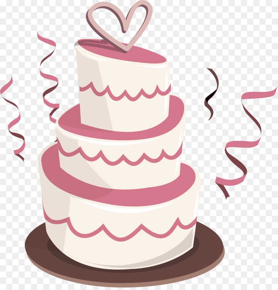 Wedding cake Birthday cake Bakery - Vector three pink cake png ...