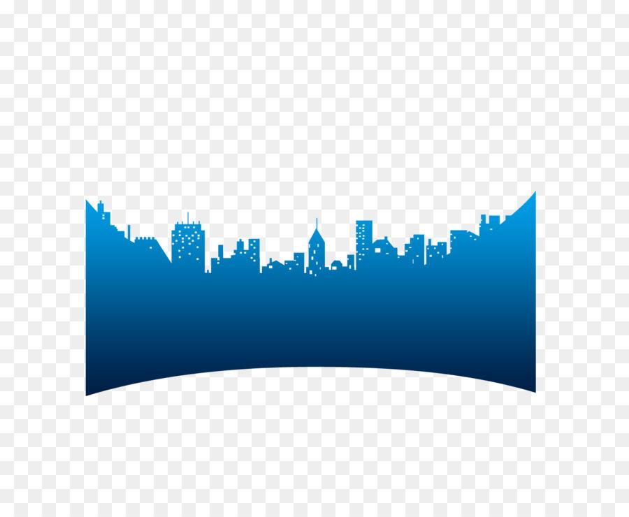 Azul Silueta De La Arquitectura De Color - Azul de construcción de ...