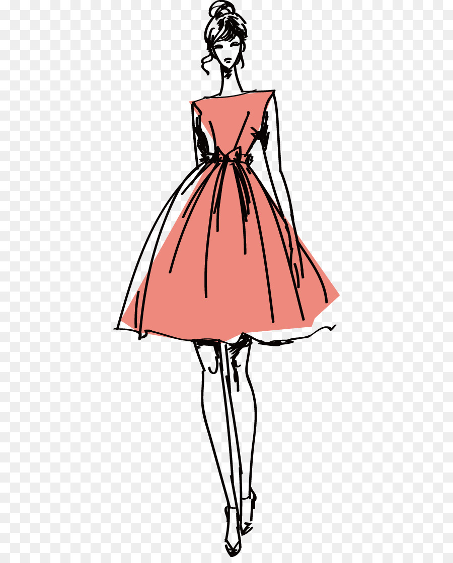 fashion model clothing illustration vector hand painted vector paint brush free vector paint brush clip art