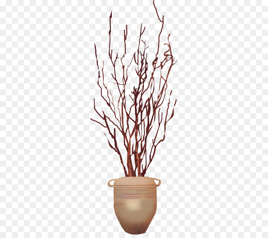 Vase Designer Dry Twigs Inserted Bottle Png Download 600789