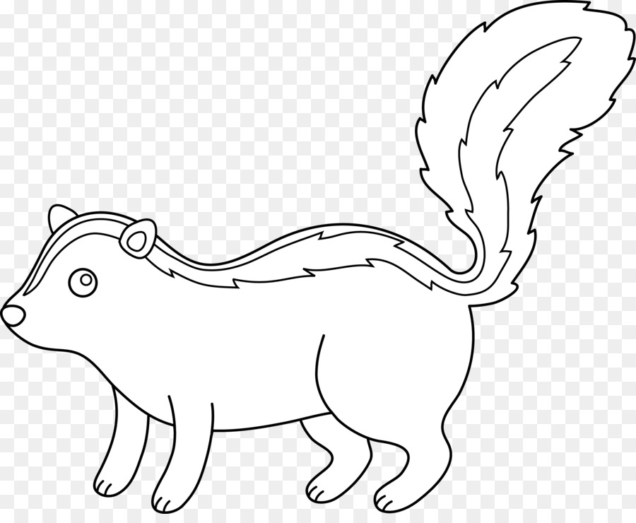 Skunk Drawing Black And White Clip Art Skunk Cliparts Png Download