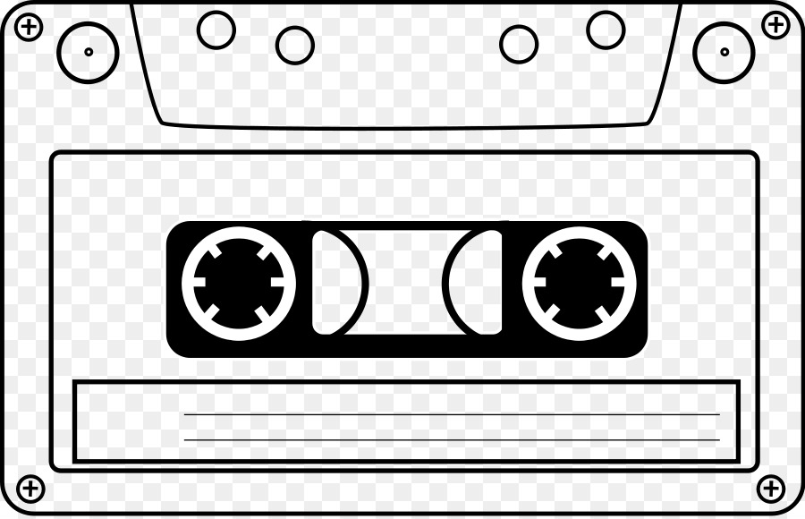 compact cassette tape recorder videotape clip art - film reel clipart png download