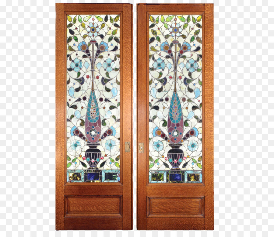 Window Stained Glass Pocket Door Sliding Furniture Material Free Pull Flower Case