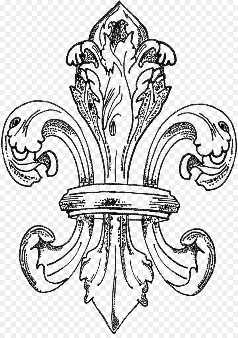 New Orleans Coloring book Fleur-de-lis Royalty-free Clip art - Fleur ...