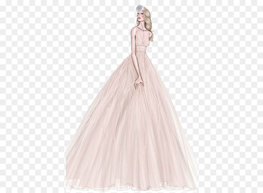 Wedding dress Gown Drawing Sketch - Hand-painted wedding png ...