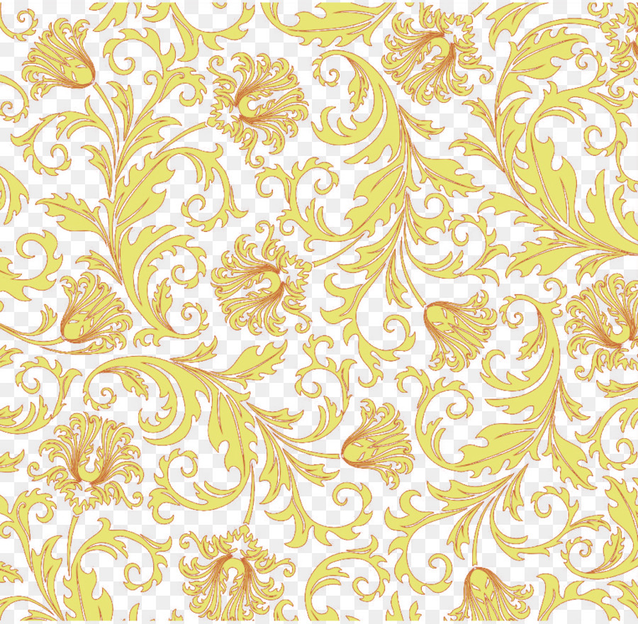 Yellow Vine Computer File Yellow Flower Vine Png Download 1024