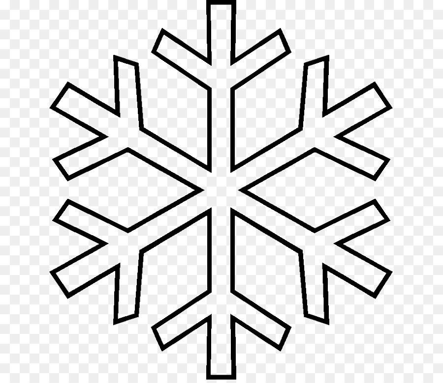Snowflake Template Coloring Book Pattern