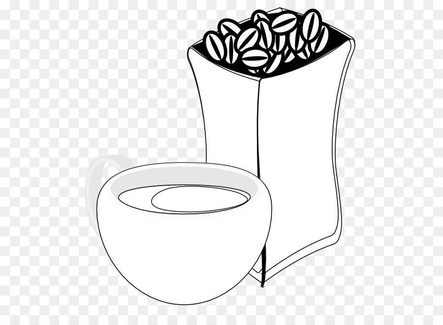 White Coffee Bean Cup Clip Art