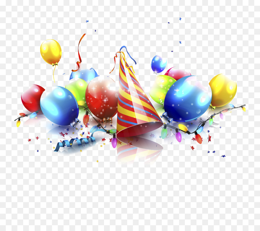 Balloon Birthday Party Illustration