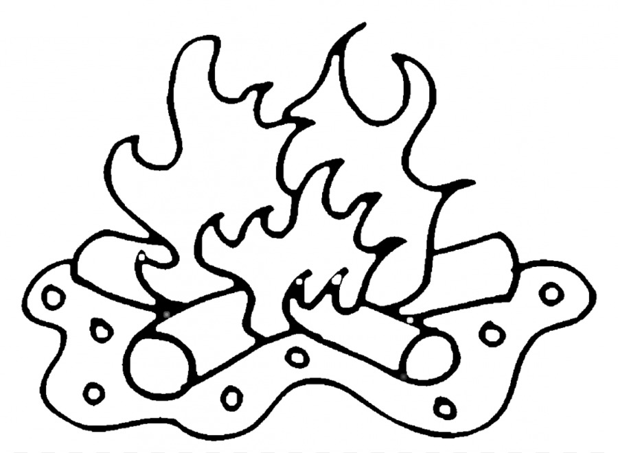 Camping libro para Colorear Fogata Clip art - De Dibujos Animados De ...