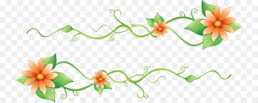 Border Flowers Euclidean Vector Lotus And Green Leaves Png