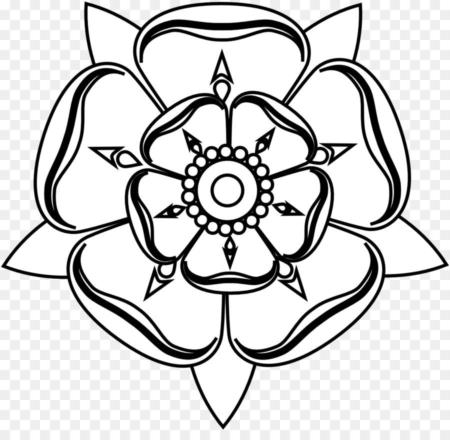Tudor Rose White Rose Of York Drawing Clip Art