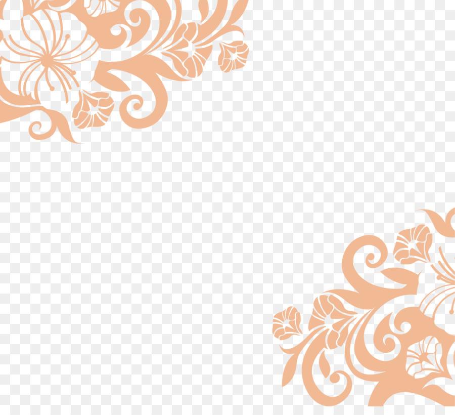 Aufkleber Wohnzimmer Gratis Orange Einfache Blüten Png