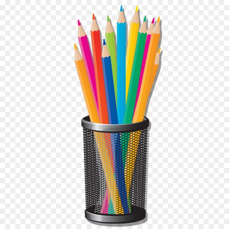 Colored pencil Crayon Clip art - Hand-painted cartoon pen png ...