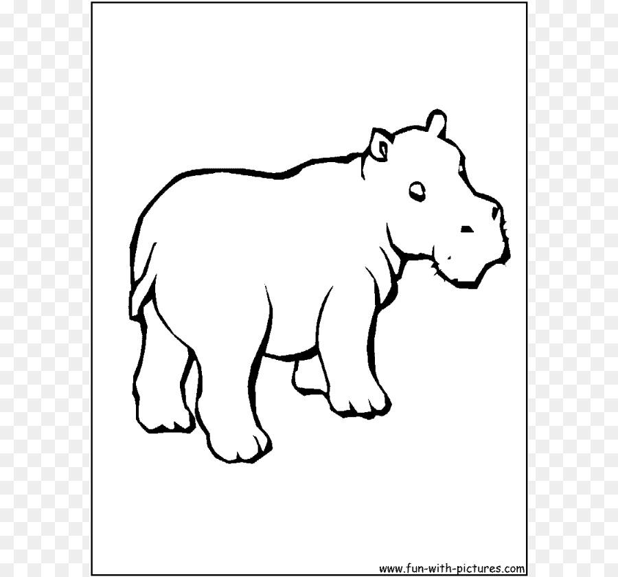 Su Aygırı Boyama Kitabı Sevimlilik Hungry Hungry Hippos çocuk