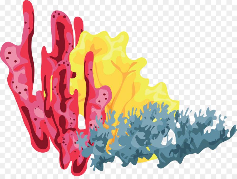 coral reef clip art color of aquatic seaweed png