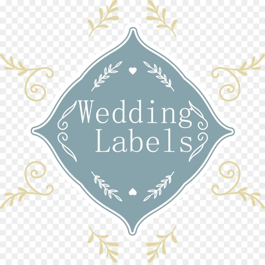 Wedding invitation Illustration - Vector wedding label png download ...
