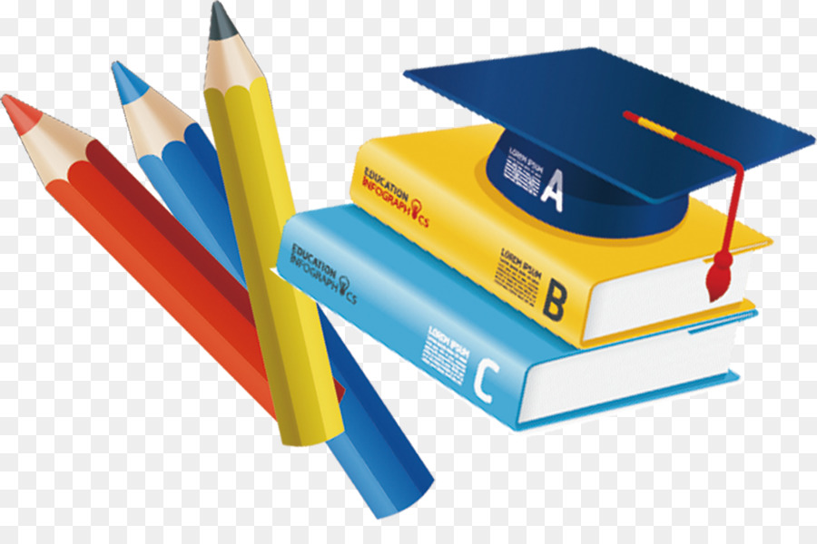 Books And Pens And Hats Png
