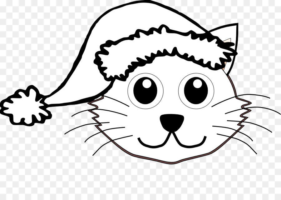 the cat in the hat santa claus kitten clip art free black and rh kisspng com santa sack clipart black and white santa face clipart black and white