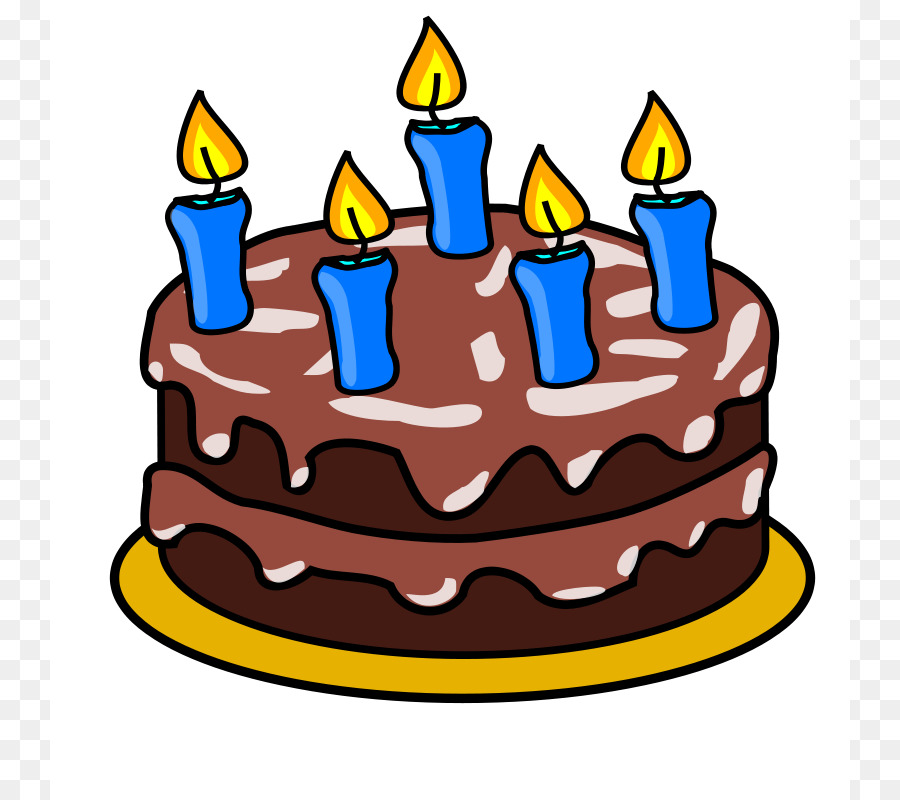 Birthday Cake Icing Chocolate Food PNG