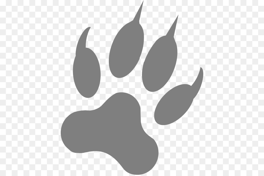 Dog Paw Footprint Claw Clip Art Wolf Vector Art Png Download 486