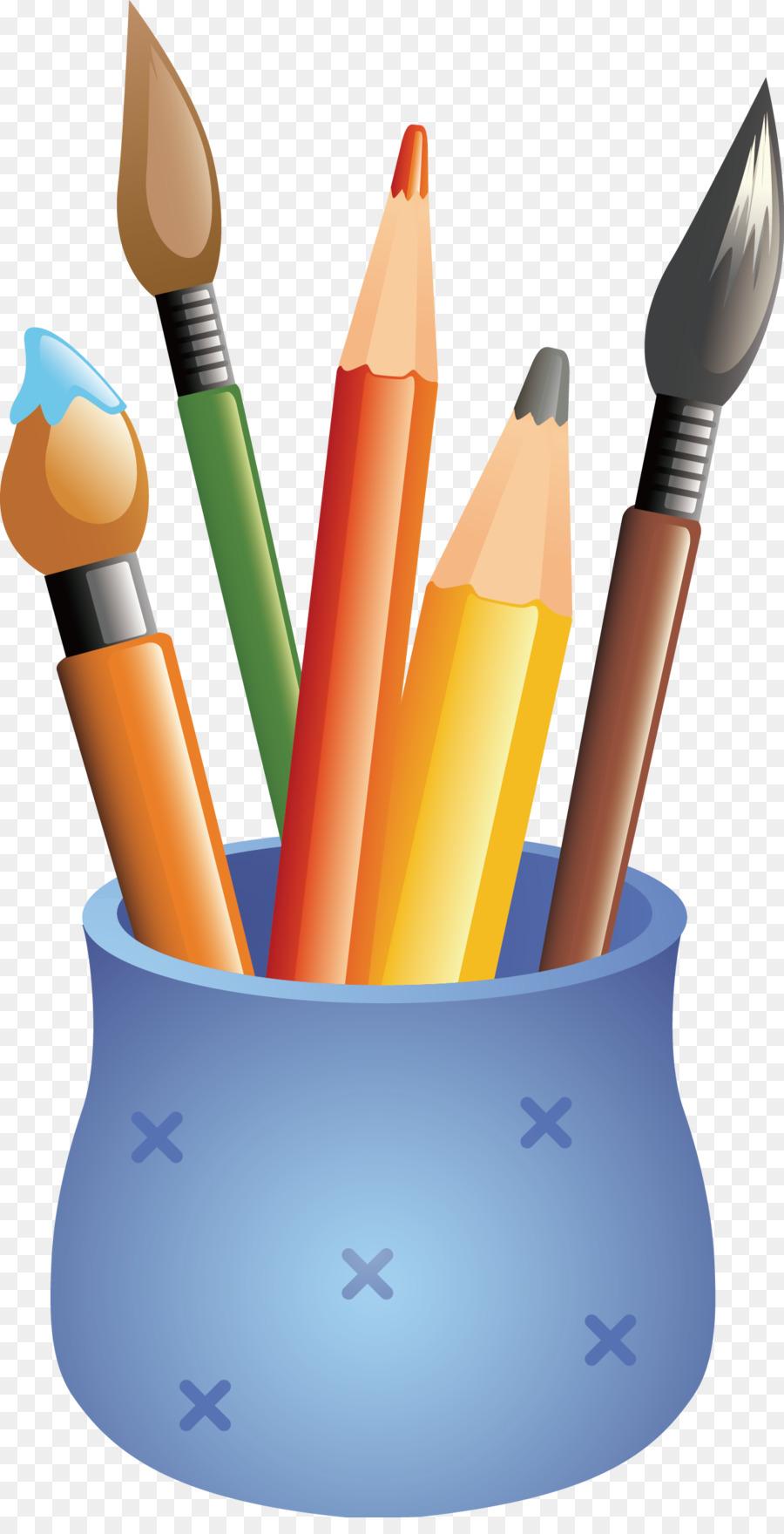 pencil case drawing colored pencil cartoon pen holder png download